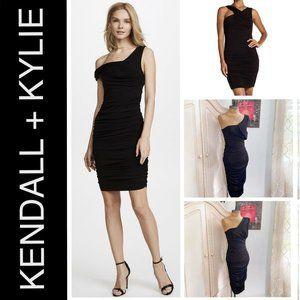 🆕KENDALL + KYLIE Off Shoulder Twist Ruched Dress